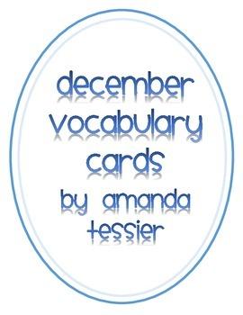 January Vocabulary Cards