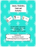 January Vocabulary Cards and Activities