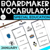 January Vocabulary Unit- Boardmaker