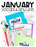 January Vocabulary Unit-  for Student's with Special Needs