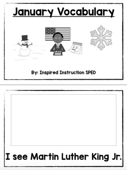 January Vocabulary Unit for Early Elementary or Students with Special Needs