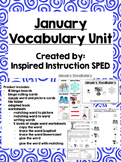January Vocabulary Unit for Early Elementary or Students w