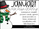 January Vocabulary {Vocabulary Cards, Mini-Reader, Activities}