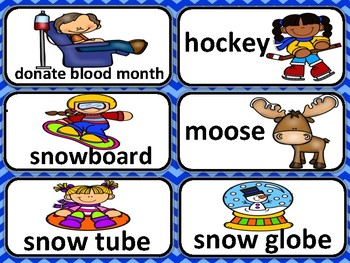 January Vocabulary with Translations in Chinese, Spanish, Arabic & Russian