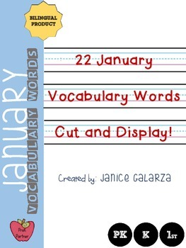 January: Vocabulary words {{Bilingual}}