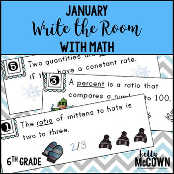 January WRITE THE ROOM with Math - 6th Grade