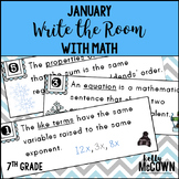 January WRITE THE ROOM with Math - 7th Grade