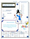 January Weekly Homework Sheet