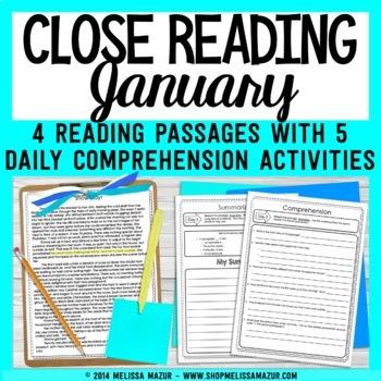 Close Reading - January