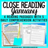 Reading Comprehension Passages and Questions - January - New Year's, Martin King