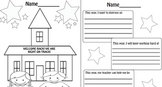 January Back to School Coloring Sheet and Writing Activity