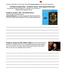 January Whole Month of Historical Journal Topics & Discussions Hauger History
