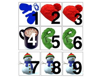 January/Winter Calendar Number Cards