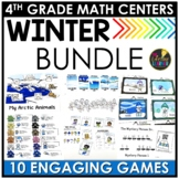 January Winter Fourth Grade Math Centers BUNDLE