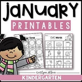 January Winter Kindergarten Printables - Math and Literacy