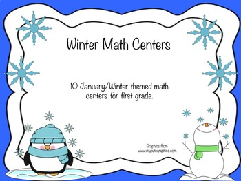 January/Winter First Grade Math Centers Bundle