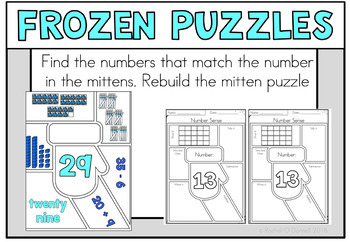 January Math Centers First Grade