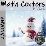January Math Centers First Grade