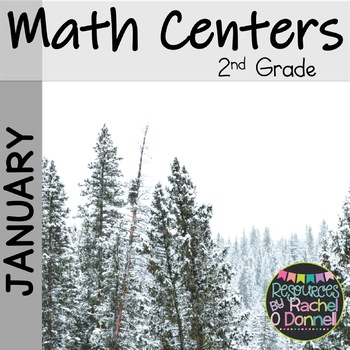 January Math Centers Second Grade