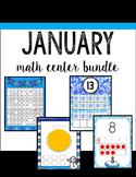 January / Winter Math Stations BUNDLE