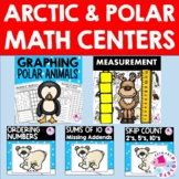 January Winter Math BUNDLE with Arctic Animals, math center, addition, graphing