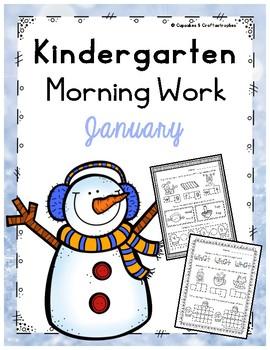 January/Winter Morning Work or Homework for Kindergarten