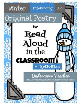 Winter Poetry Unit & Inferencing Activities (NO PREP)
