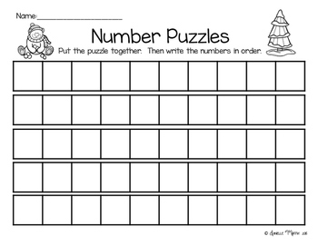 Winter Number Puzzles 0-100 and Skip Counting