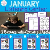 January Listening Center With QR codes-28 books and Comprehension/Retell sheets