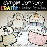 January Winter Crafts and Writing Activities Penguin Polar