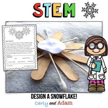 January Winter STEM Activity: Design a Snowflake