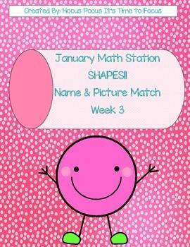 Winter Shape Extravaganza Math Stations Week 1-2-3-4 Kindergarten