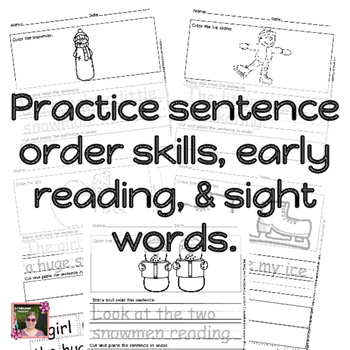 Winter Sight Words Sentence Builders {Daily 5 & Homework}-No PREP