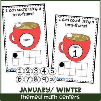January/ Winter Themed Math Centers for Special Needs, ECE, or Kinder