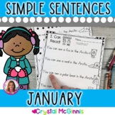 January Winter Themed (Simple Predictable Sentences for Beginning Readers)