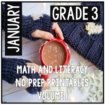 January Winter Third Grade Math and Literacy NO PREP Commo