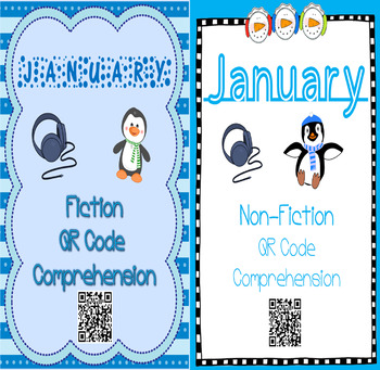 January- Winter & Winter Animals - QR Code Comprehension BUNDLE (Fiction&Non)