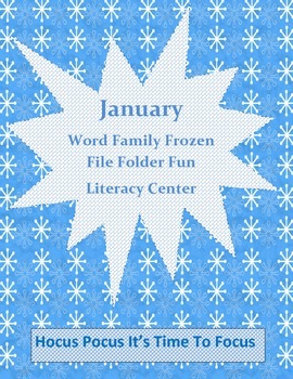 Winter Word Family Frozen Literacy Center Week 1 & 2 (ip, in, im, id)
