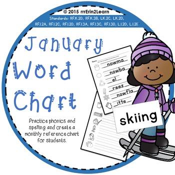 January Winter Word Study Kindergarten