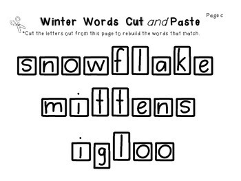 January {Winter Words} Word Work!