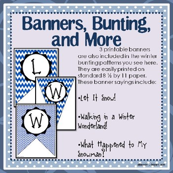January, Winter, and Snowman Bulletin Board and Writing Printables