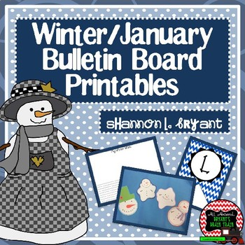 January Winter And Snowman Bulletin Board Craftivity Writing Printables