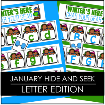 January Winter's Here Grab Your Gear Hide and Seek - Letter Edition