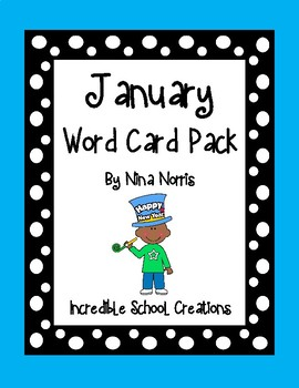 January Word Cards