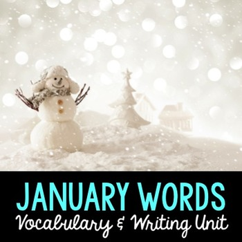January Word Cards and Word Walls {in English and Spanish}