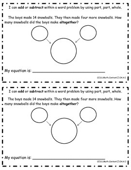 January Word Problem Math Journals {2nd Grade Common Core Aligned}