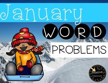 January Word Problem Warm Ups