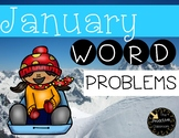 January Word Problem First Grade Addition and Subtraction Warm Ups