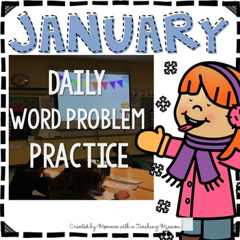 January Word Problem Warm-Ups & Printables 1.OA.1