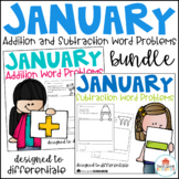 January Word Problems Addition and Subtraction Bundle